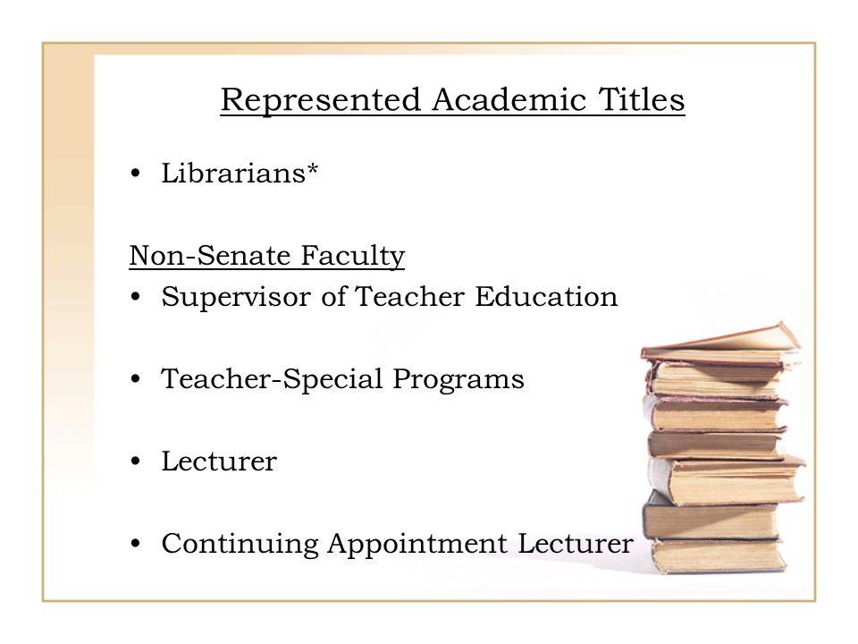 Represented Academic Titles