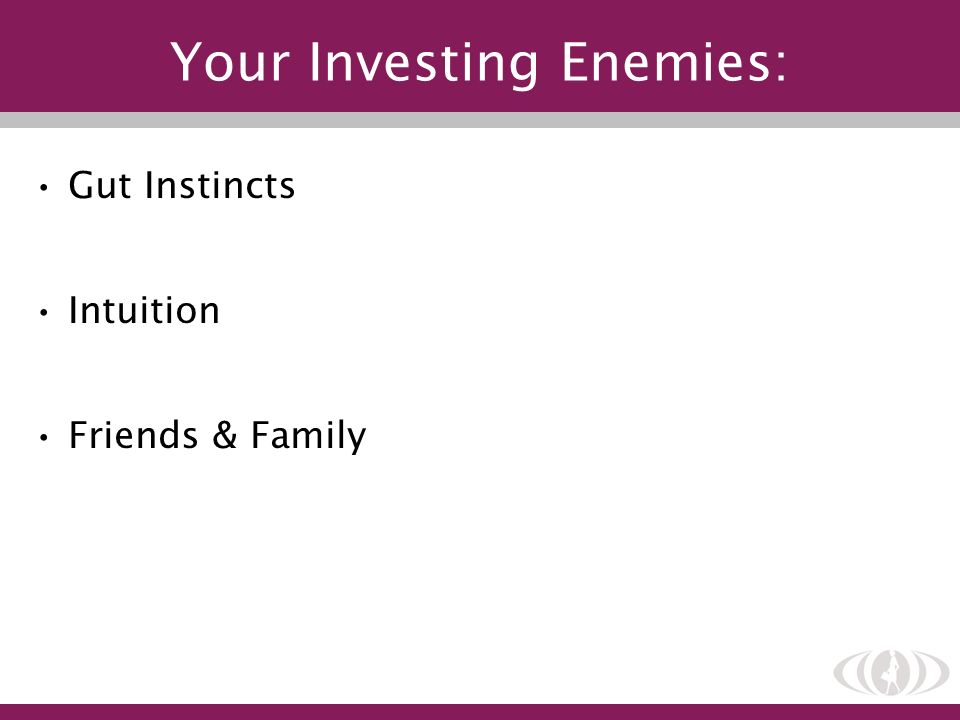 Your Investing Enemies: