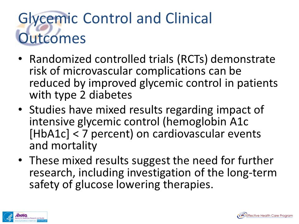 Glycemic Control and Clinical Outcomes