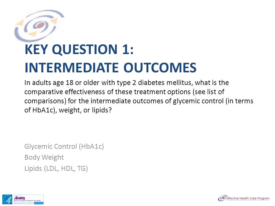 Key question 1: intermediate outcomes