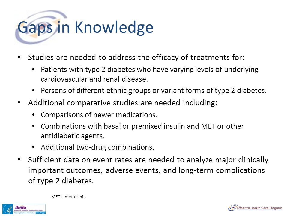 Gaps in Knowledge Studies are needed to address the efficacy of treatments for: