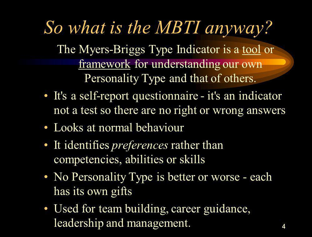 So what is the MBTI anyway