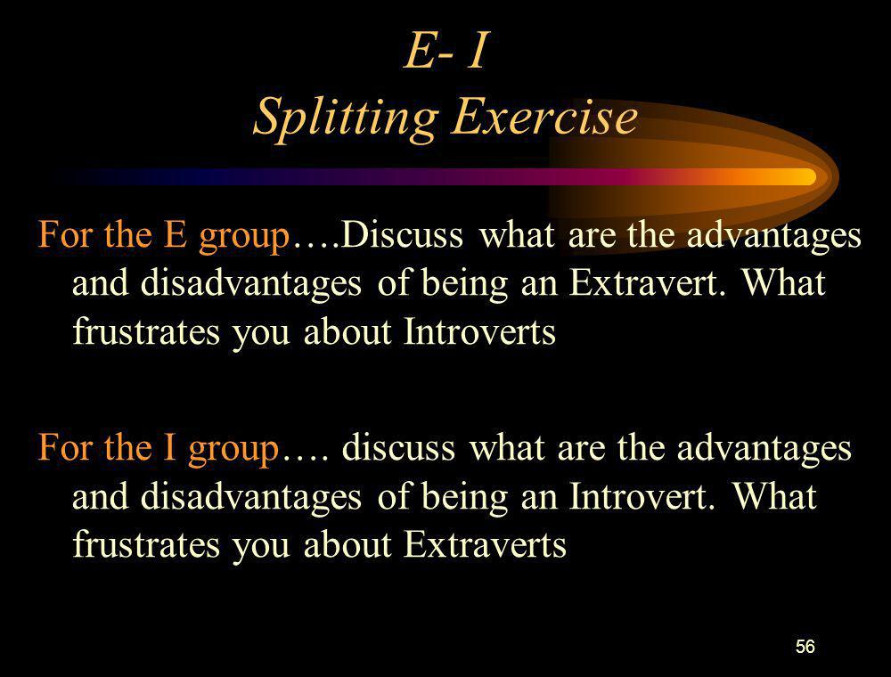 E- I Splitting Exercise