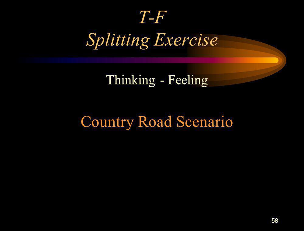 T-F Splitting Exercise