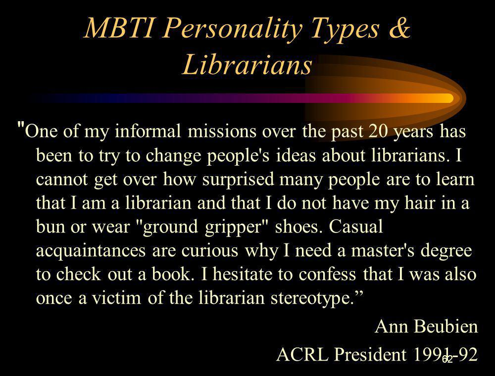 MBTI Personality Types & Librarians