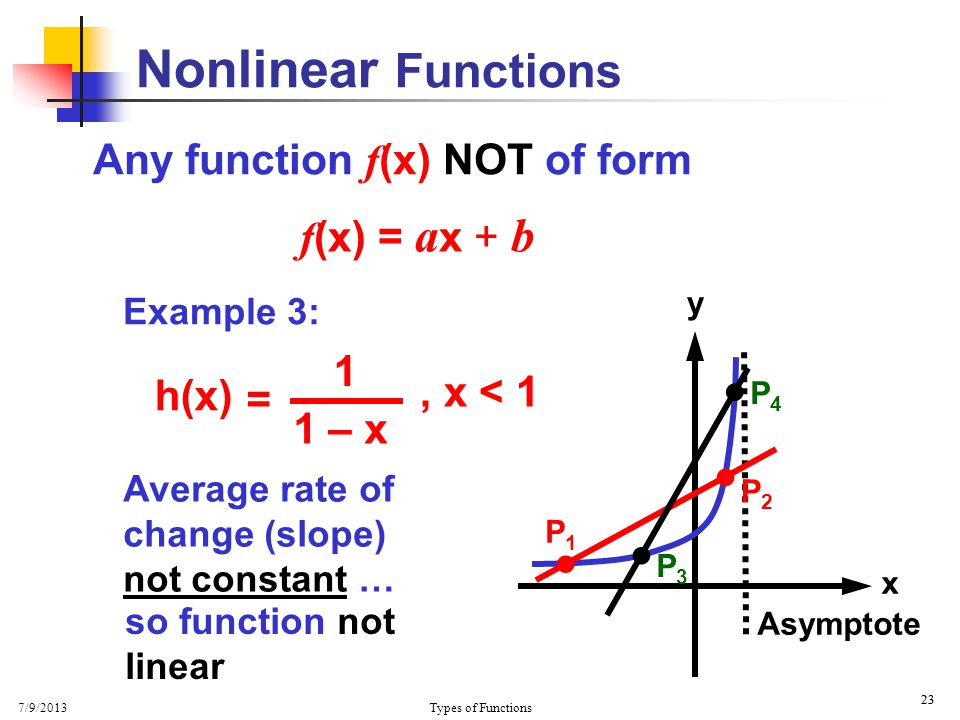 Constant, Linear and Non-Linear