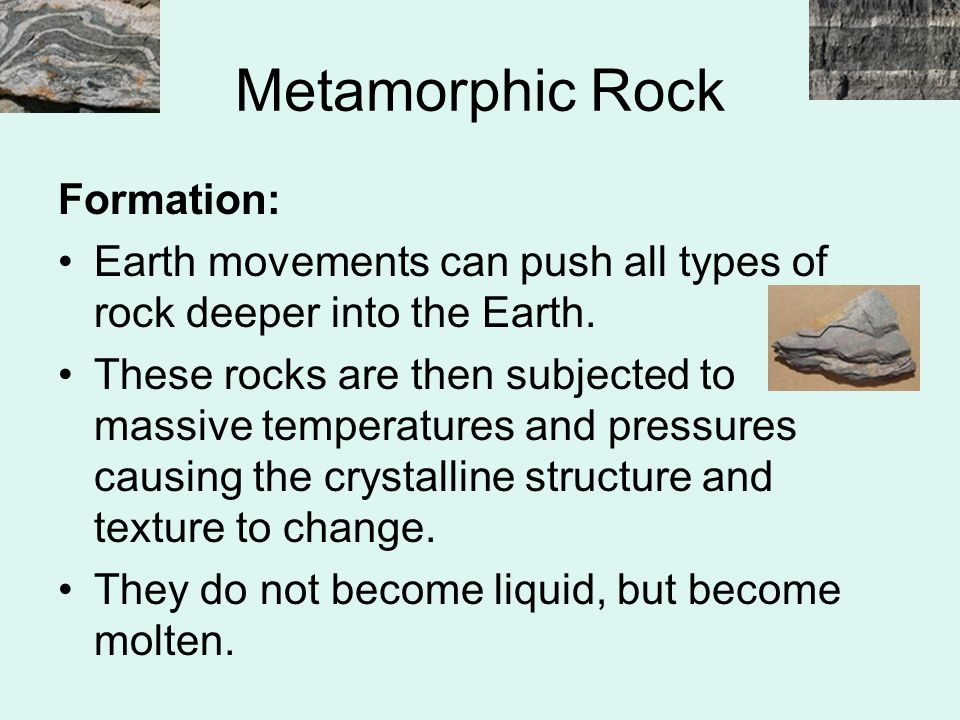 Metamorphic Rock Formation:
