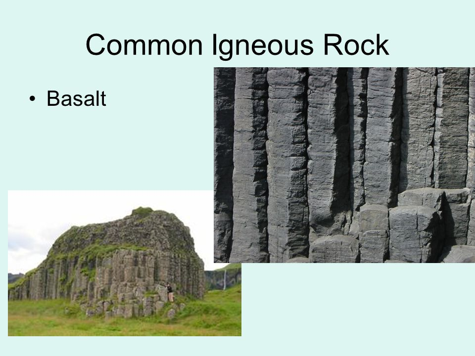 Common Igneous Rock Basalt