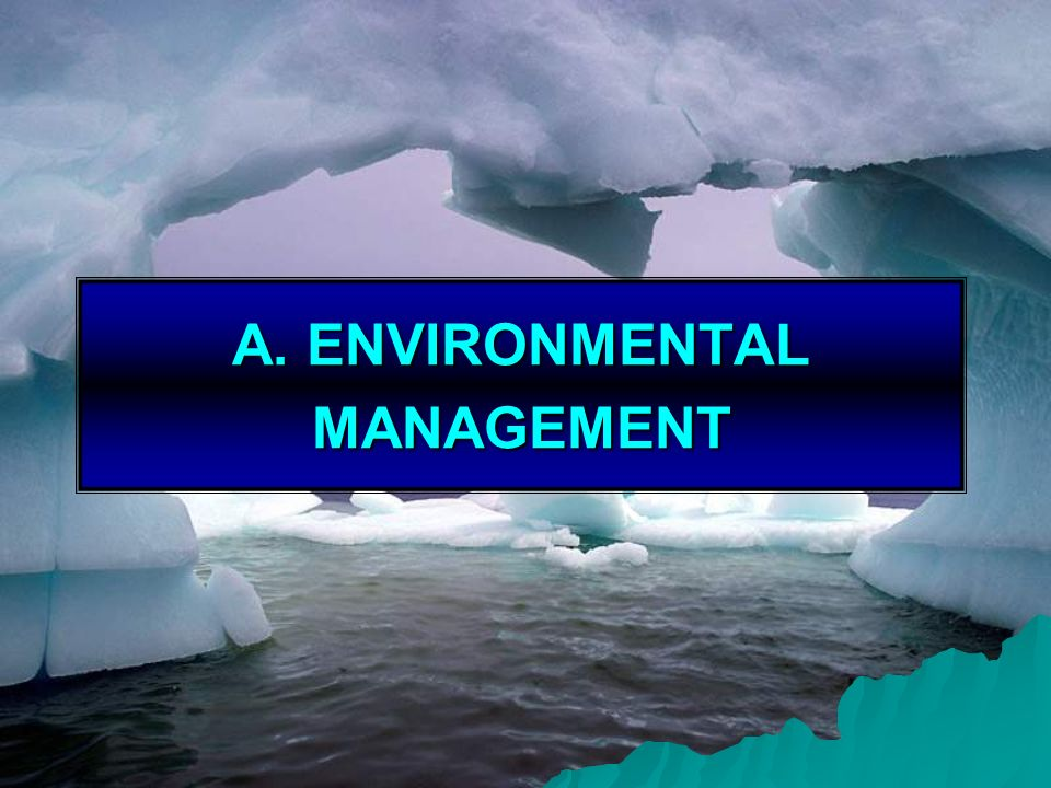 A. ENVIRONMENTAL MANAGEMENT