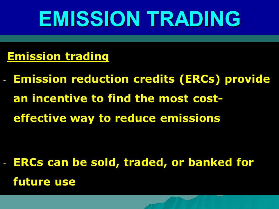 EMISSION TRADING Emission trading