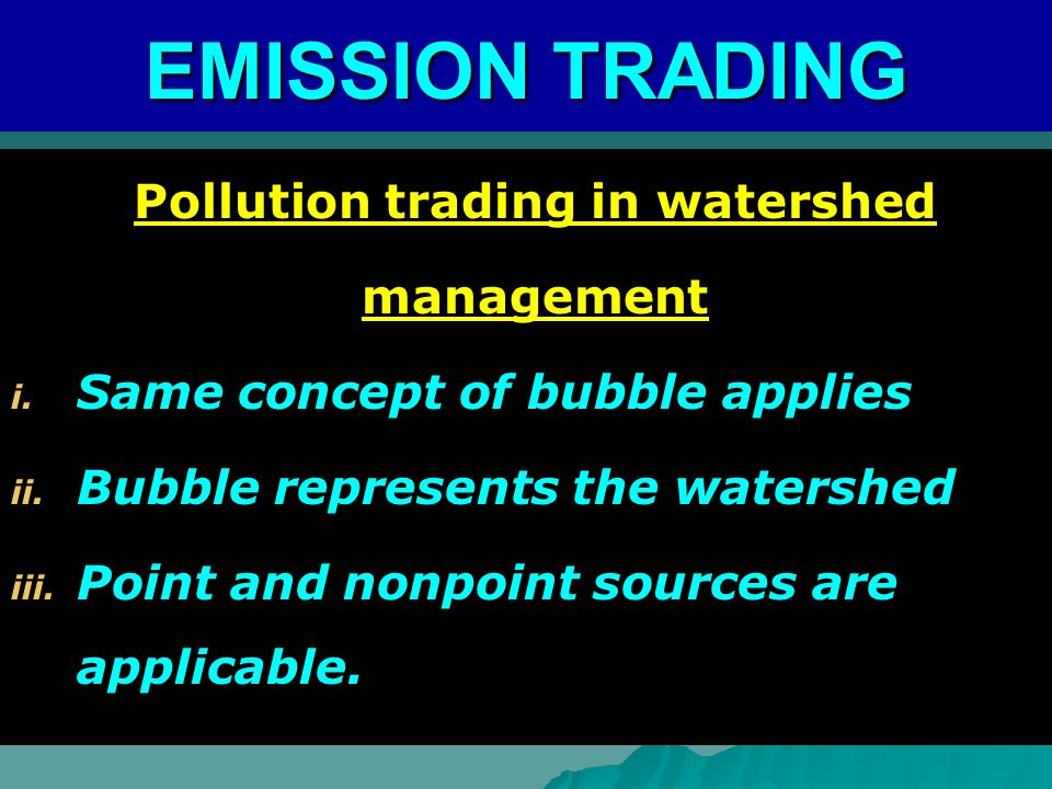 Pollution trading in watershed