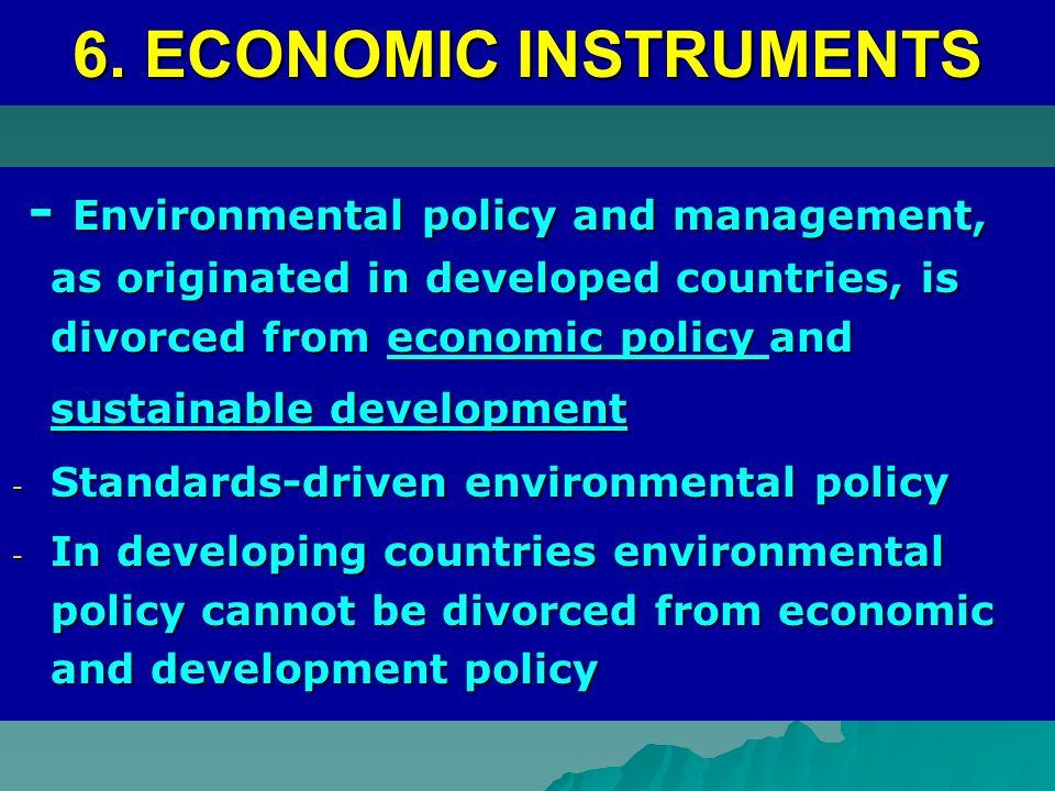 6. ECONOMIC INSTRUMENTS