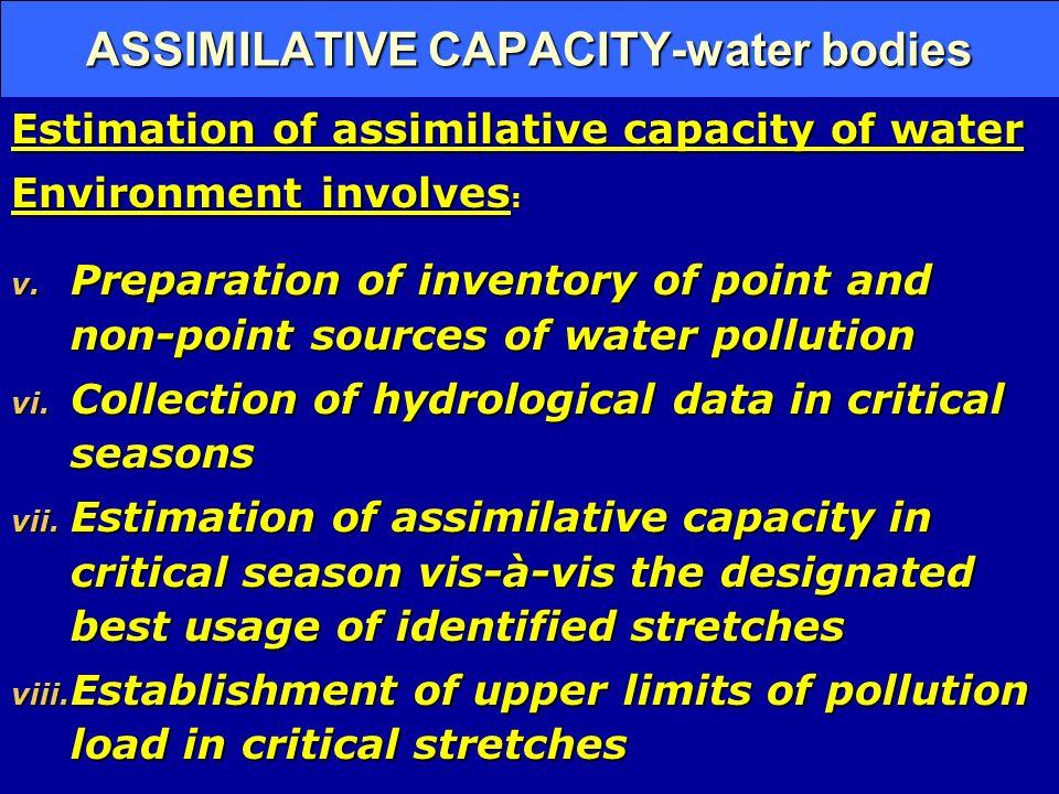 ASSIMILATIVE CAPACITY-water bodies