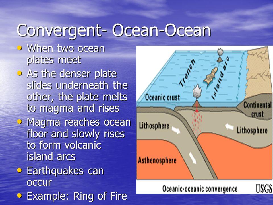 Convergent- Ocean-Ocean