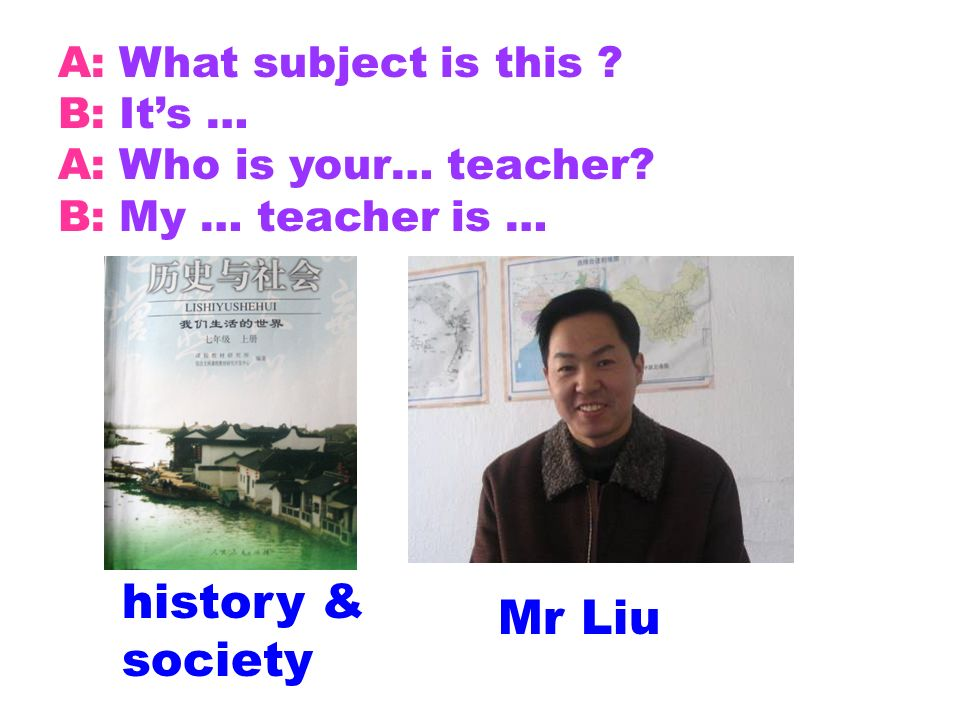 history & society Mr Liu