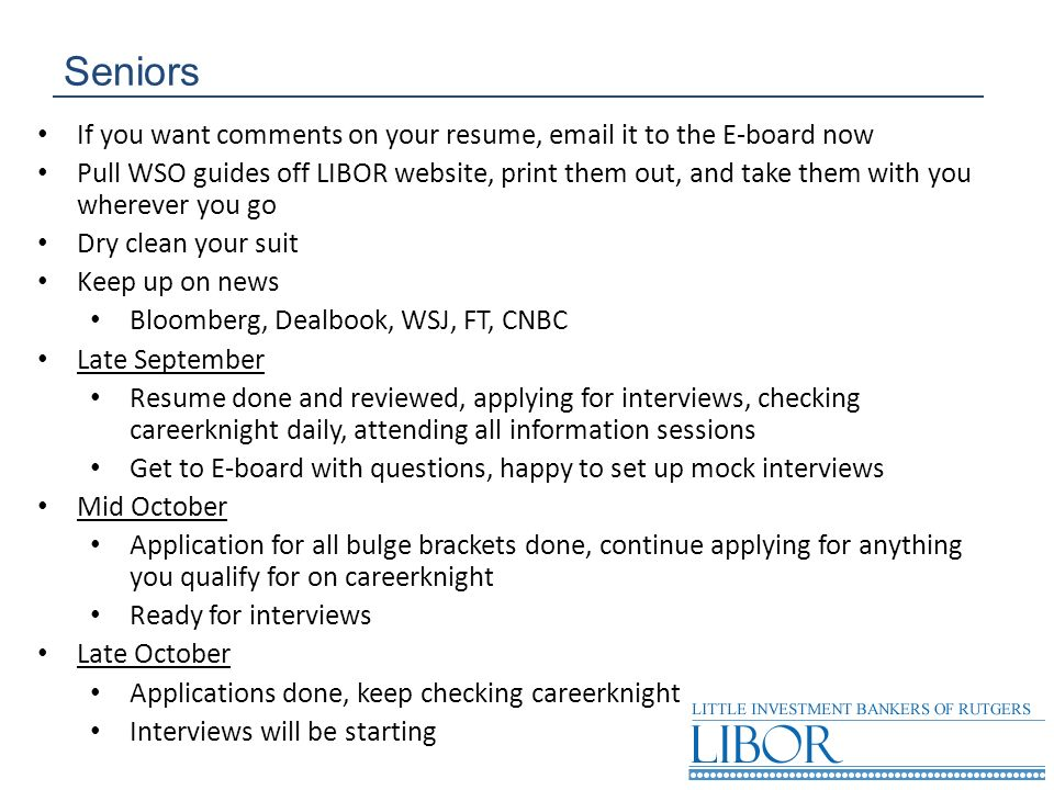 Seniors If you want comments on your resume,  it to the E-board now.