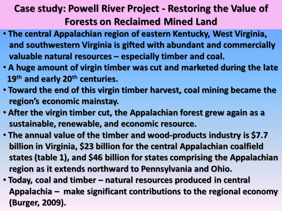 Case study: Powell River Project - Restoring the Value of Forests on Reclaimed Mined Land