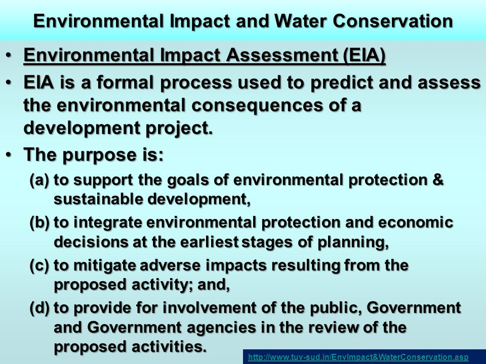 Environmental Impact and Water Conservation
