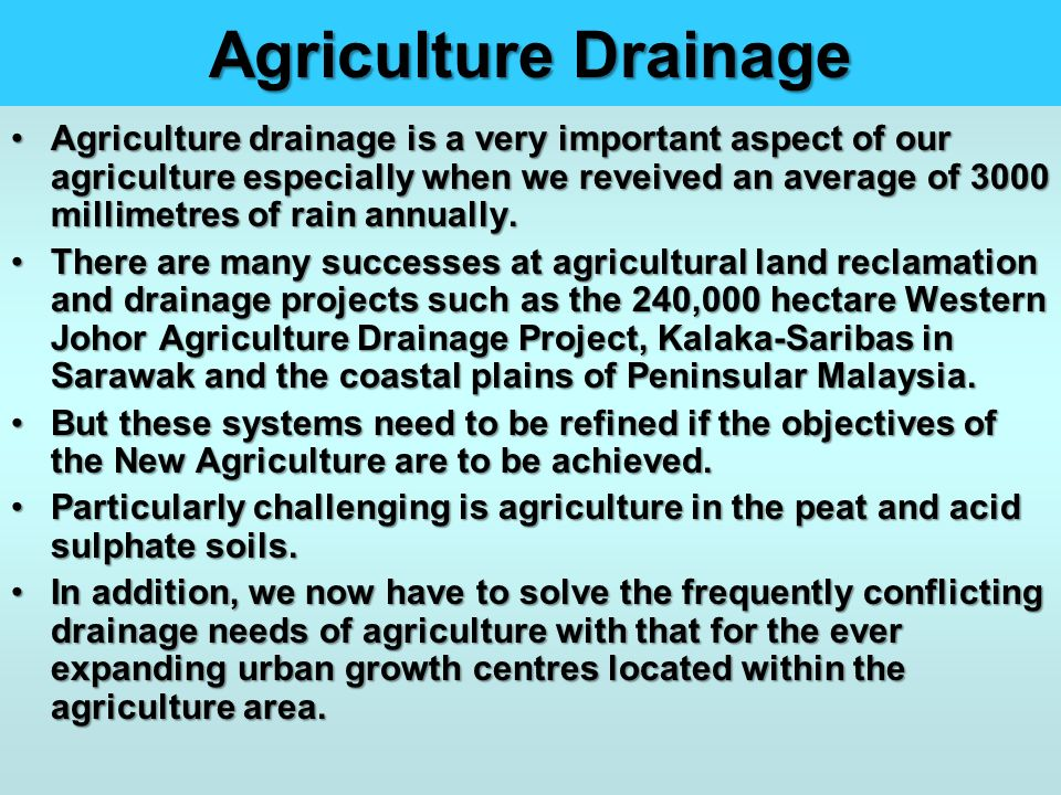 Agriculture Drainage