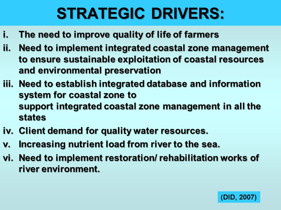 STRATEGIC DRIVERS: The need to improve quality of life of farmers