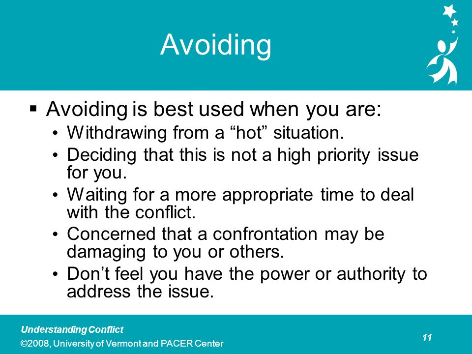 Avoiding Personal and/or Professional Costs to Avoiding Conflict