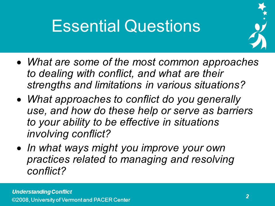 This module includes a number of ways of thinking about conflict
