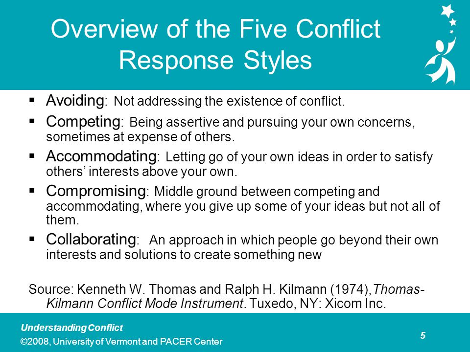 Group Activity: Exploring Your Personal Conflict Styles