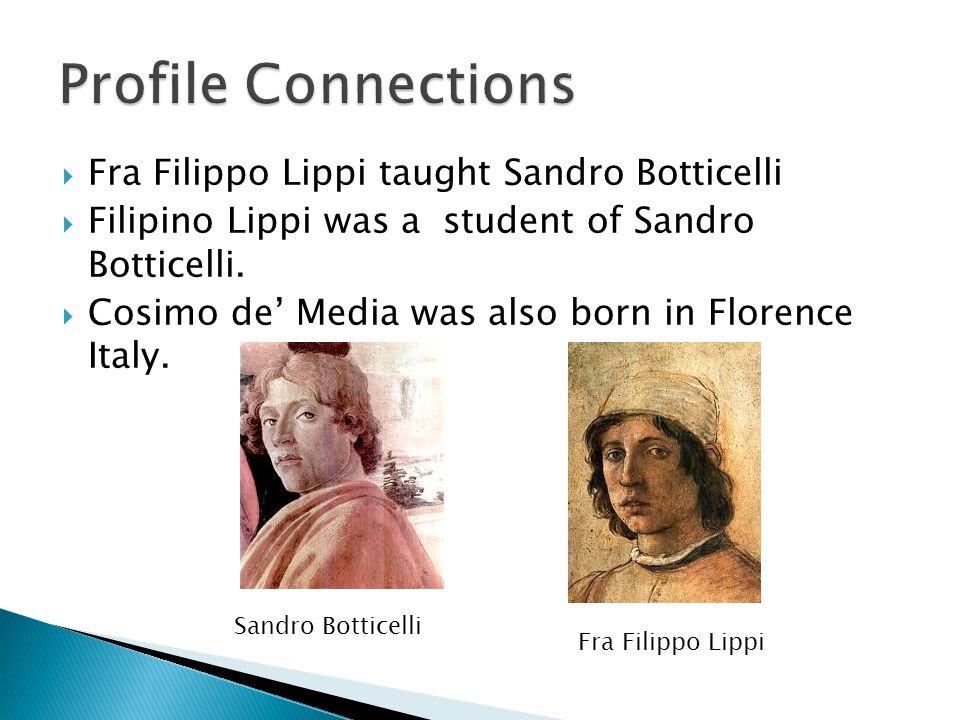 Profile Connections Fra Filippo Lippi taught Sandro Botticelli