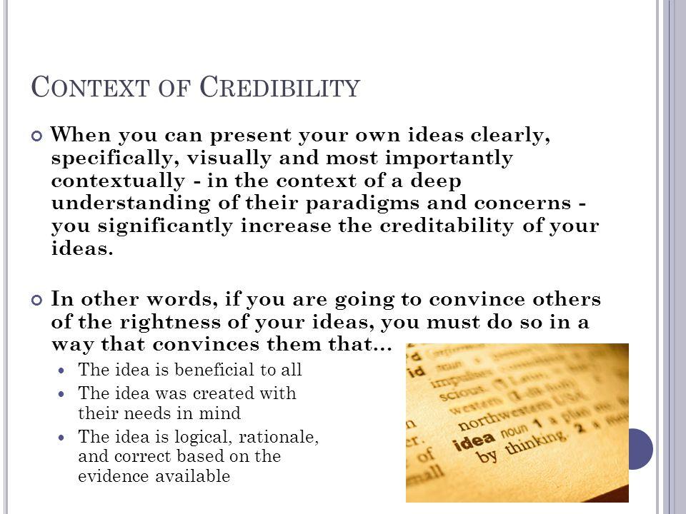Context of Credibility