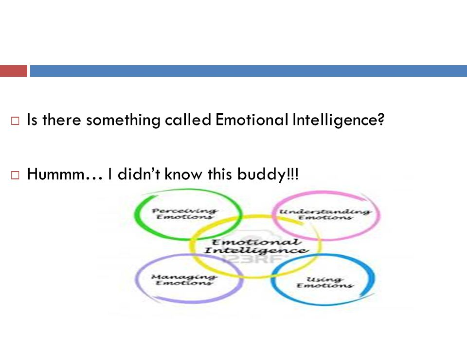 Is there something called Emotional Intelligence