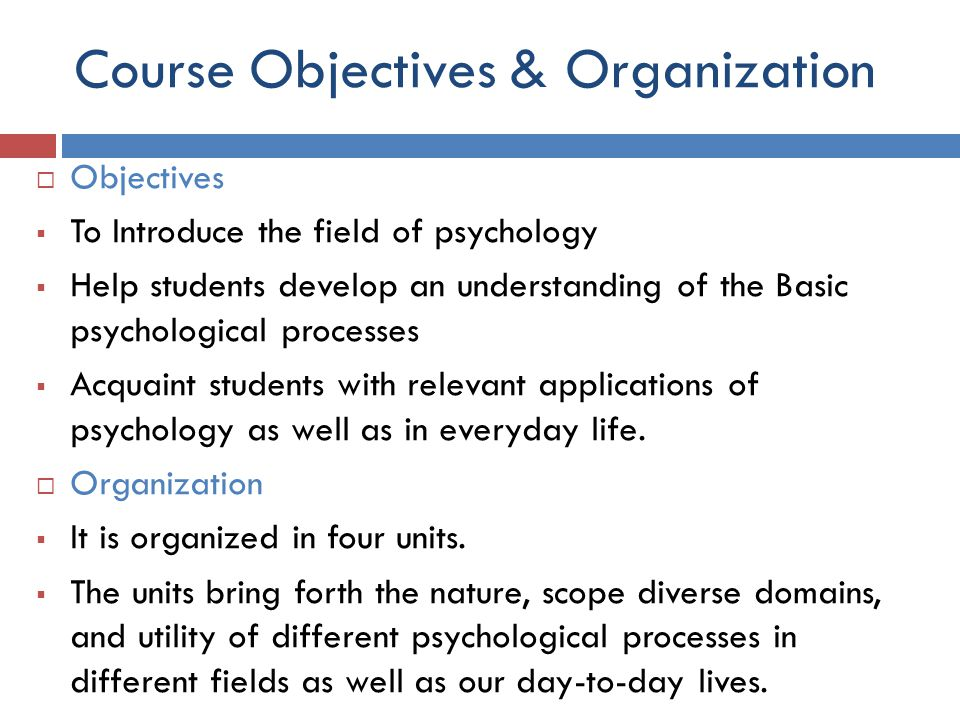 Course Objectives & Organization