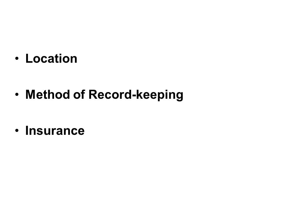 Location Method of Record-keeping Insurance