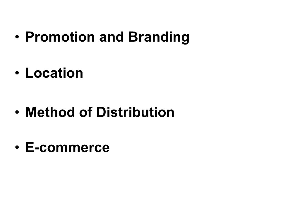Promotion and Branding