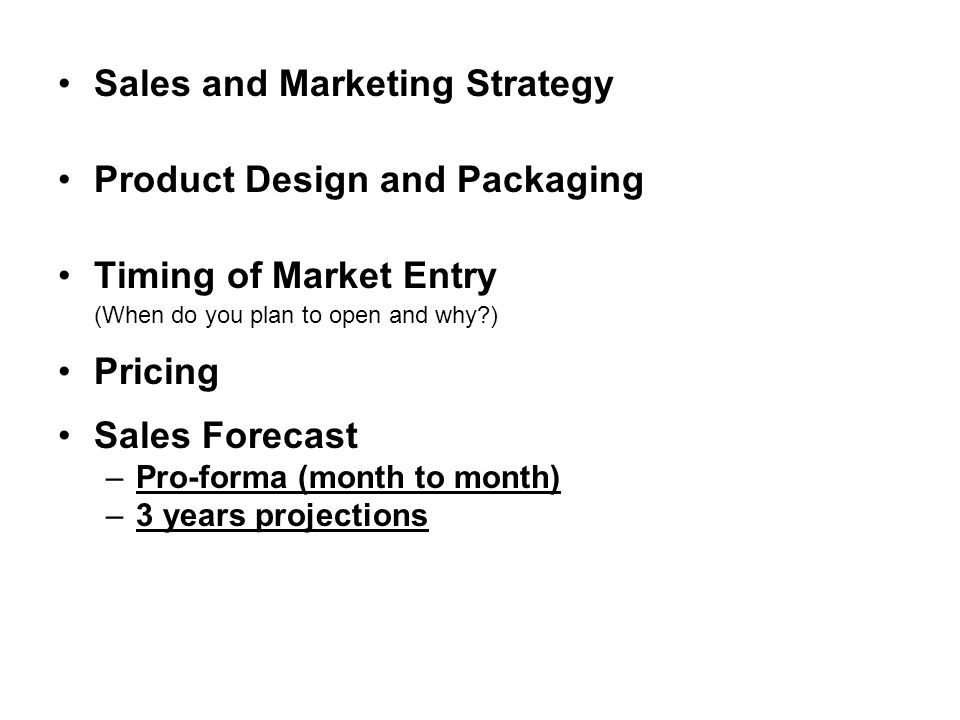 Sales and Marketing Strategy Product Design and Packaging