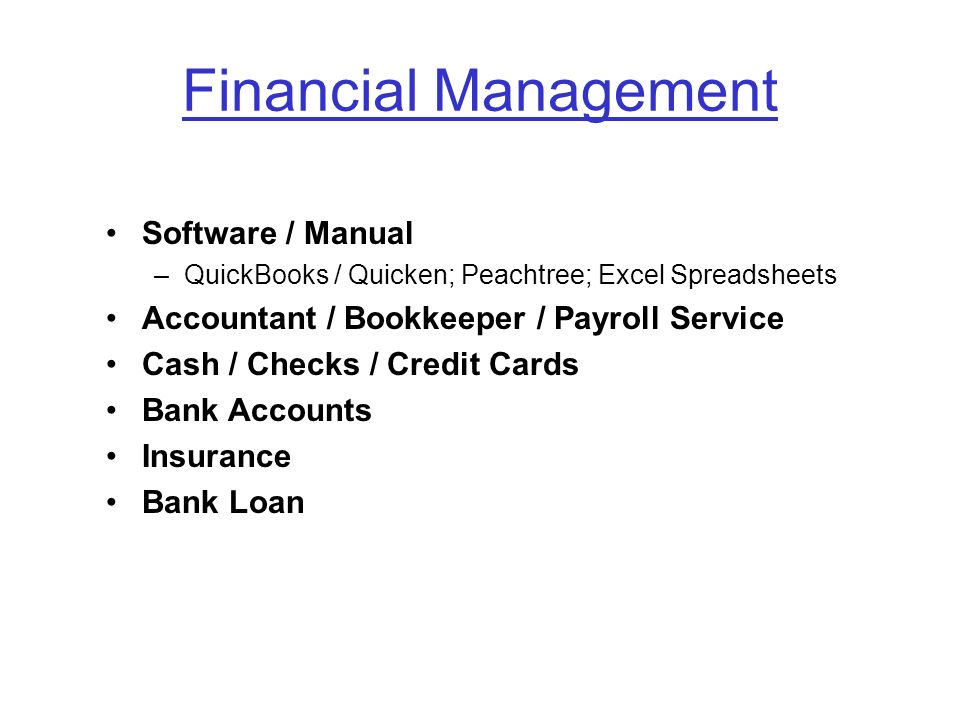 Financial Management Software / Manual