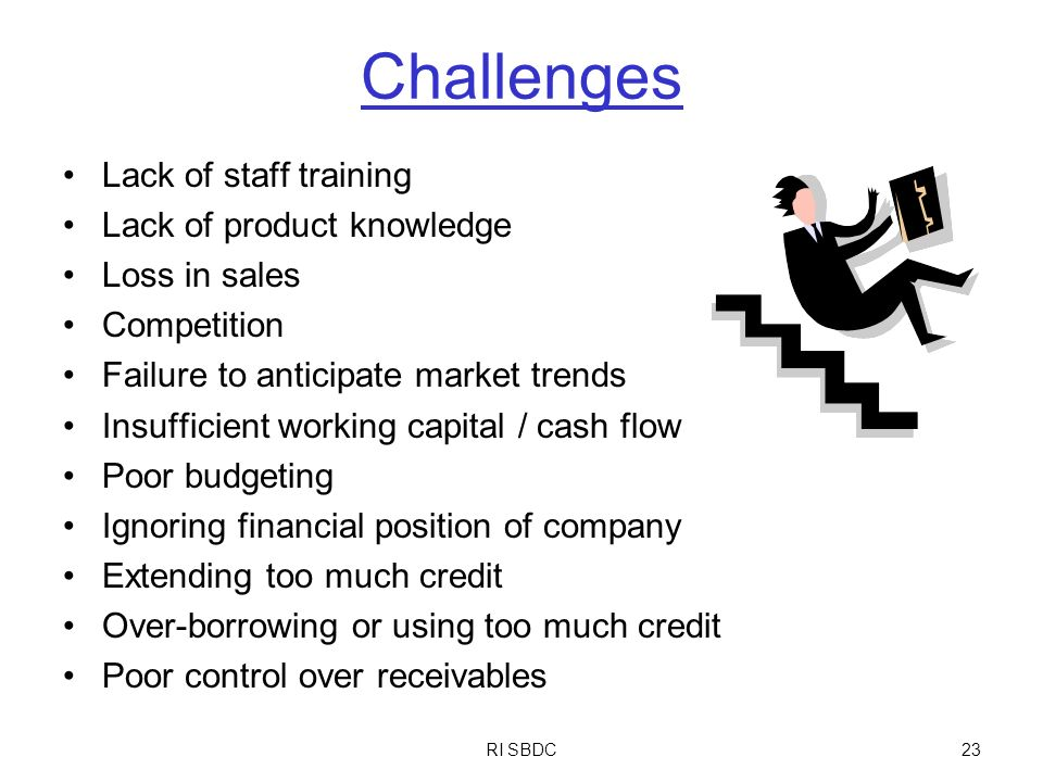 Challenges Lack of staff training Lack of product knowledge