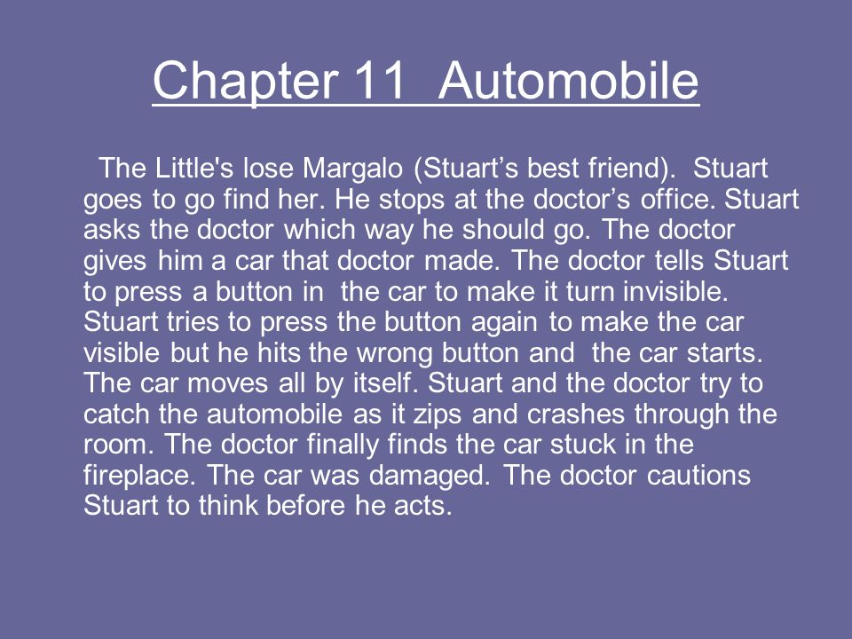 Chapter 11 Automobile