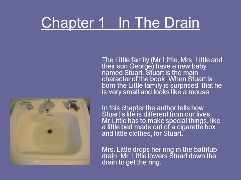 Chapter 1 In The Drain