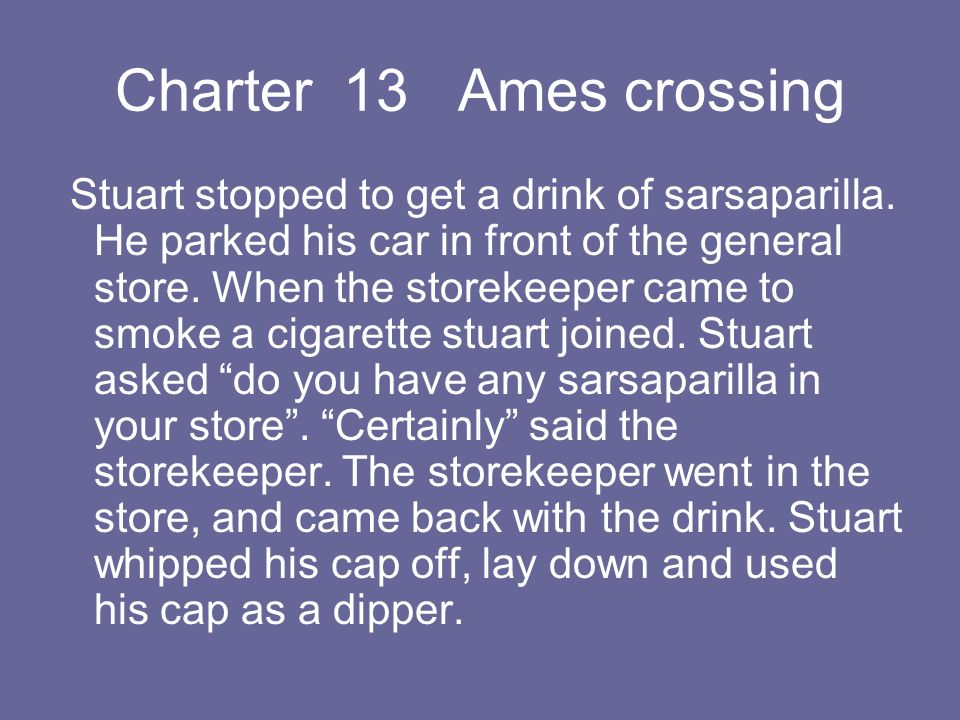 Charter 13 Ames crossing