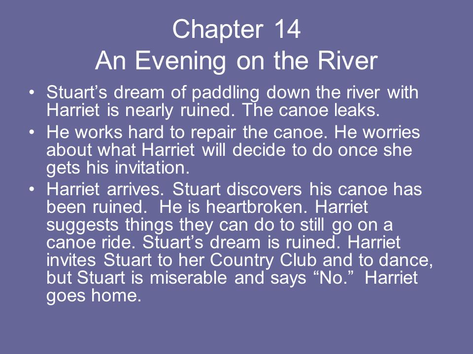 Chapter 14 An Evening on the River