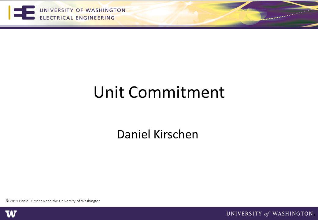 © 2011 Daniel Kirschen and the University of Washington