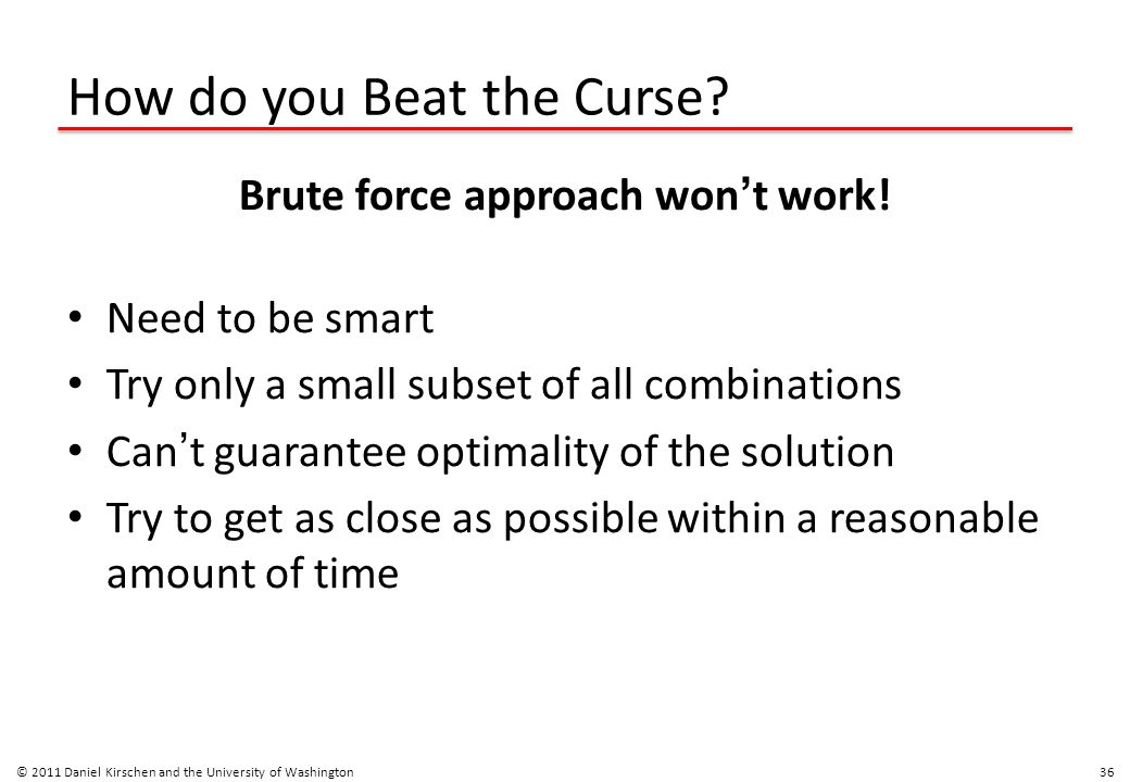 How do you Beat the Curse