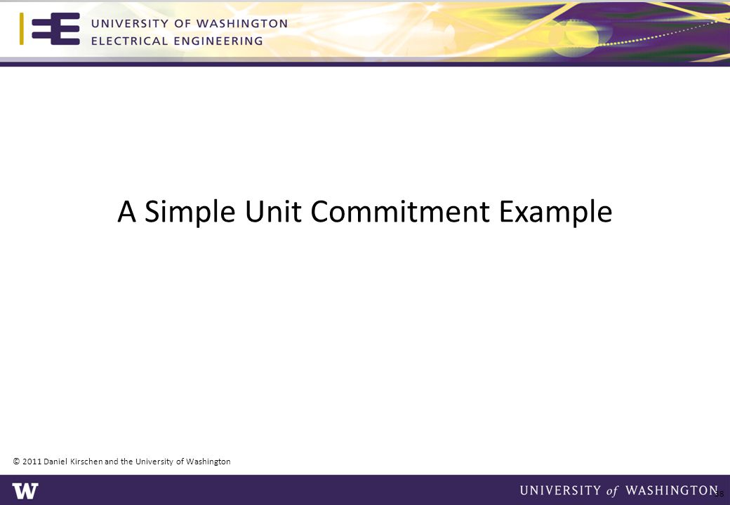 A Simple Unit Commitment Example