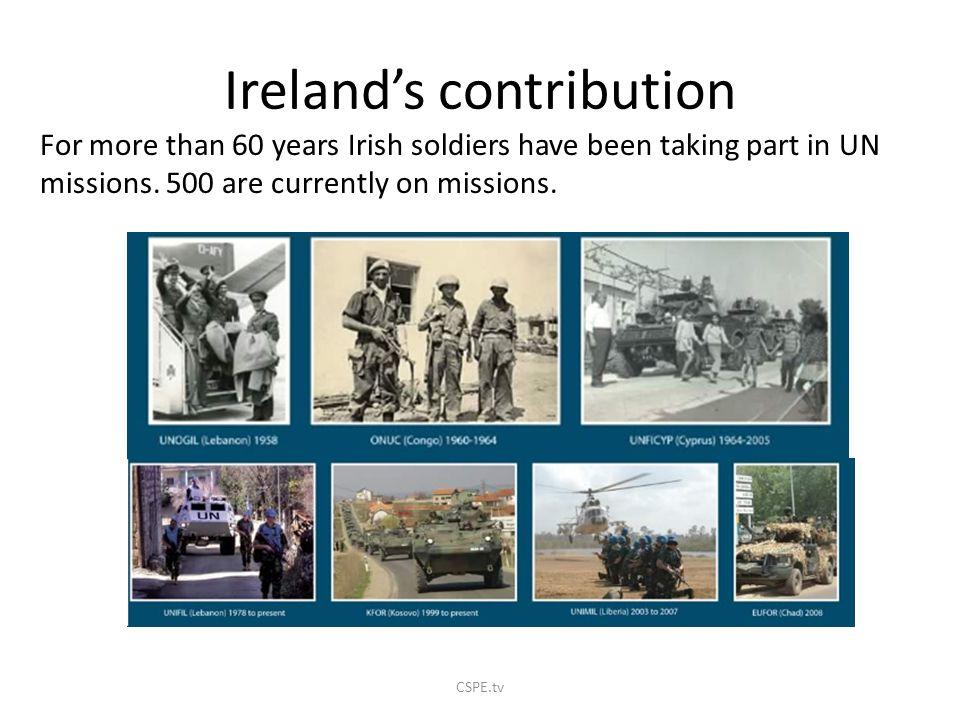 Ireland's contribution
