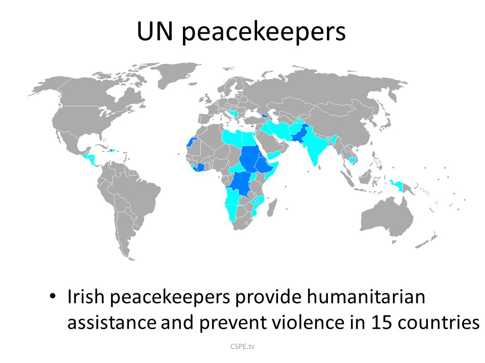 Since founded 63 UN peacekeeping operations