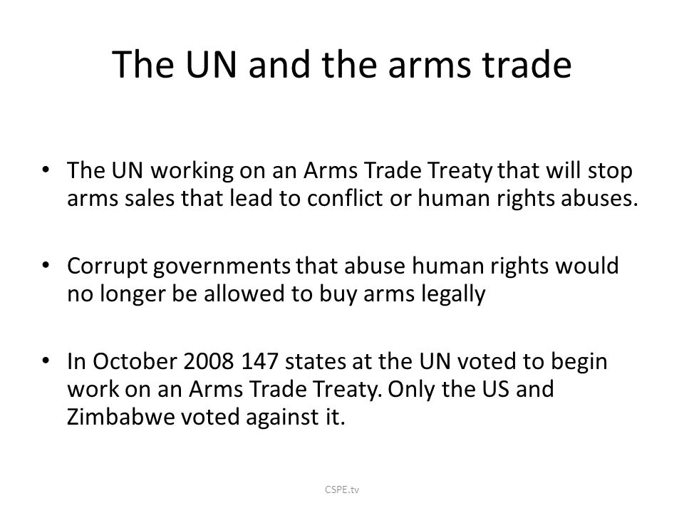 The UN and the arms trade