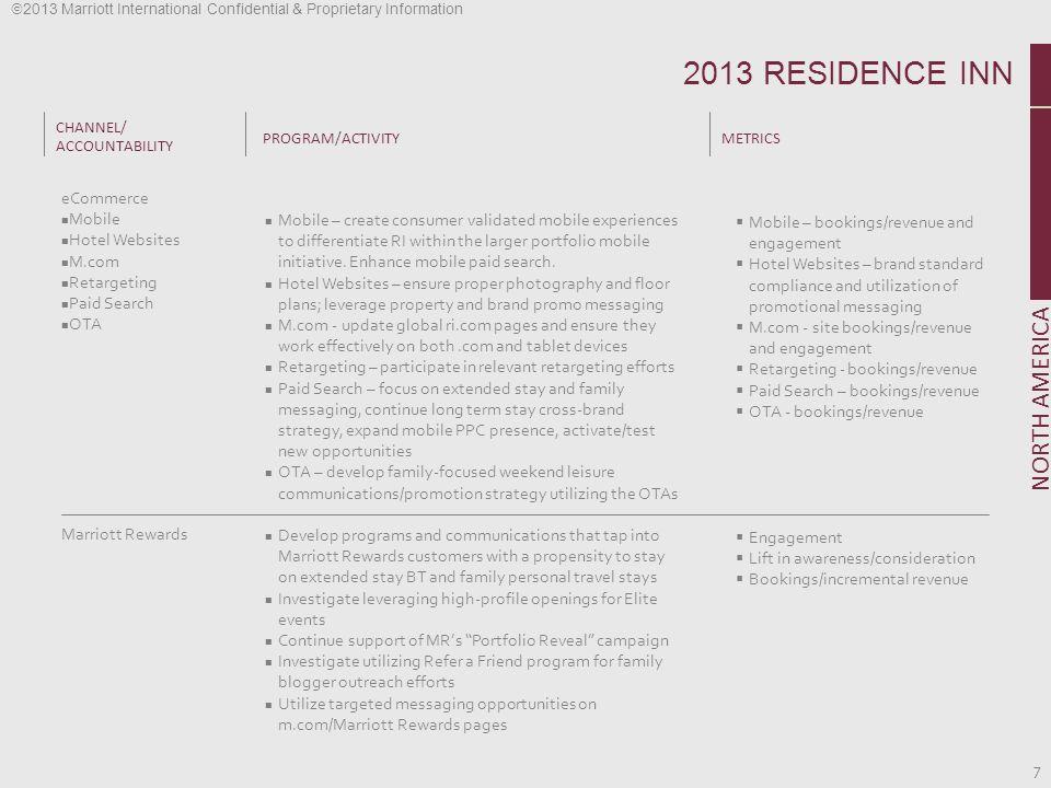 2013 RESIDENCE INN NORTH AMERICA eCommerce Mobile Hotel Websites