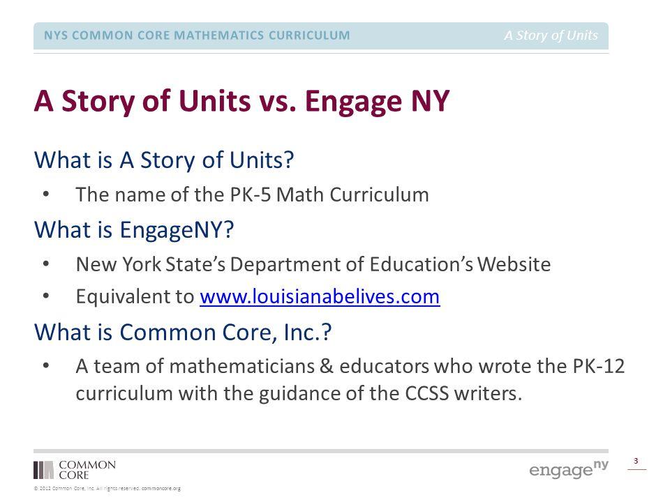 A Story of Units vs. Engage NY