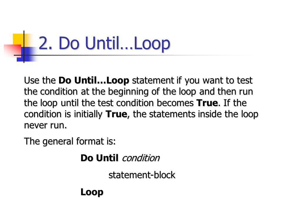 2. Do Until…Loop