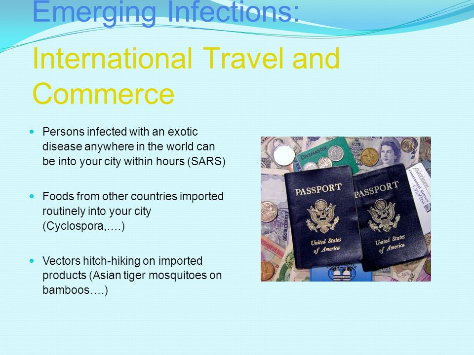 Emerging Infections: International Travel and Commerce
